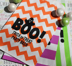 personalized halloween trick or treat favor bag