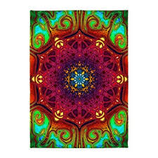 Area Throw Rugs Cafepress Mandala Psychedelic Excursion P 5 X7