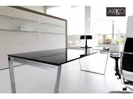 bureau plateau en verre bureau arko executive chromé plateau verre 200 x 90 cm ivm office