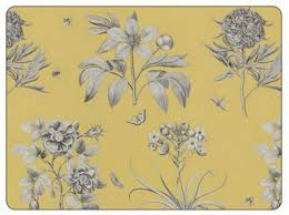 buy sanderson for pimpernel etchings roses yellow placemats set