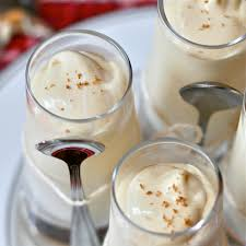 martini eggnog e is for egg nog pudding shots