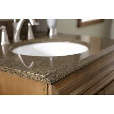 shop allen roth imperial brown quartz undermount single sink