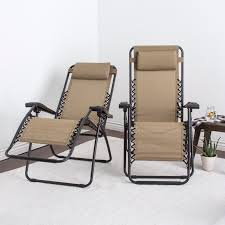 Patio Lawn Chairs Zero Gravity Chair Set Of 2 Headrest Patio Outdoor Camping Folding
