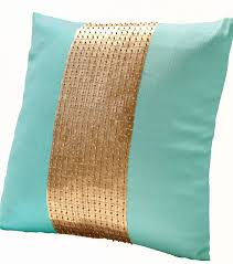 Cushion Covers For Sofa Pillows by Amazon Com Amore Beaute Handmade Teal Pillow Covers Teal Gold