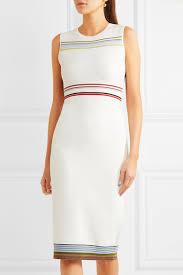 diane von furstenberg striped stretch knit dress net a porter com