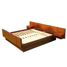 Platform Bed With Floating Nightstands Kai Kristiansen Rosewood Bed Denmark 1960 Brazilian Rosewood