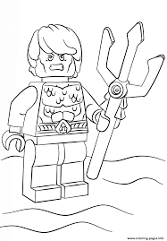 lego aquaman coloring pages printable