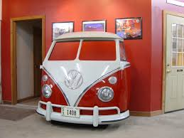 volkswagen van front view new retro cars restored classic car furniture and decor