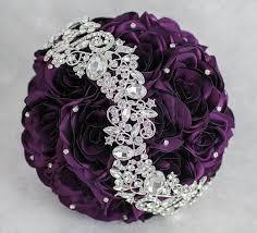 purple bouquets bridal bouquet brooch bouquet wedding bouquet purple wedding