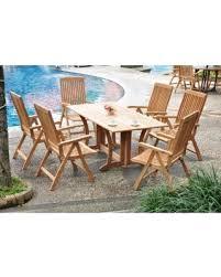Grade A Teak Patio Furniture by Spring Savings On Teak Dining Set 6 Seater 7 Pc 69