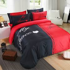 Couples Bed Set Duvet Quilt Cover Bedding Set Sheet King Size
