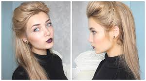 a quick and easy slightly pin up hairstyle for back to