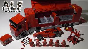 ferrari truck lego racers 8654 scuderia ferrari truck lego speed build review