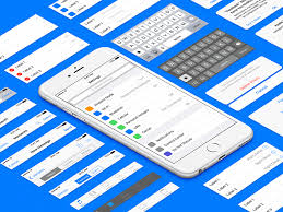 ios 9 ui kit template sketch freebie download free resource for