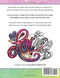 design inspiration words amazon com zenthoughts coloring book inspirational zentangle word