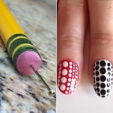 pencil eraser u0026 sewing pin as a dotting tool this diy nail art