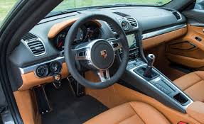 porsche inside view porsche 981 cayman interior front wheel drive orange tan beige