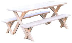 picnic tables with detached benches garden and patio outdoor round