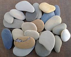 Large Pebbles For Garden Beach by Flat Beach Stones Etsy