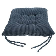 Navy Blue Cushions Uk Corn Velvet Seat Cushions Tie On Chunk Chair Pads For Sofa Dining