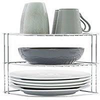 plate rack cabinet insert amazon co uk cupboard organizers home kitchen