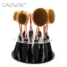 caldwell tooth brush shape oval makeup brush set professional