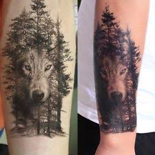 wolf temporary tattoo ebay