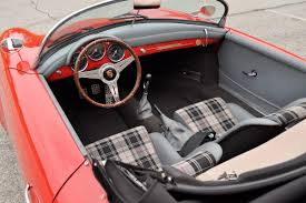 porsche speedster kit car sold 1957 porsche 356 speedster replica red gray plaid