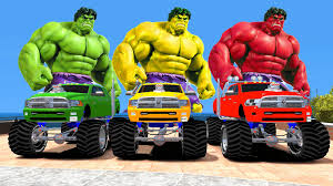 Hulk Colors U0026 Monster Trucks Colors Nursery Rhymes Songs For