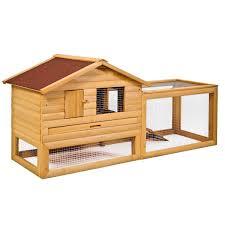 Large Rabbit Hutch With Run Gym Equipment Chicken Coop House Wooden Rabbit Hutch Bunny Hen Pet