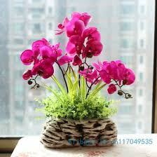 Silk Flower Plants - flower arrangement ikebana arranged artificial butterfly orchid