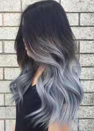 embray hair ash grey ombre hair nail art styling