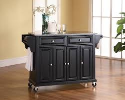 exclusive solid granite top kitchen cart island in black
