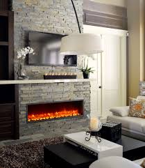 home decor awesome electric linear fireplace decor color ideas