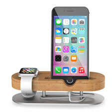 support bureau iphone bamboo wooden usb charge dock mobile phone holders stands for apple
