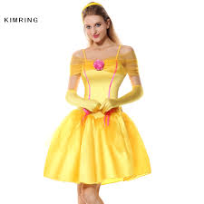 Belle Halloween Costume Adults Cheap Belle Princess Dress Adults Aliexpress