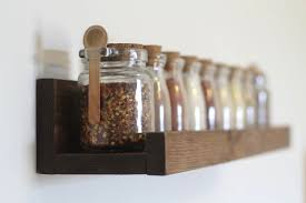 Spice Rack Including Spices Rustic Wooden Spice Rack Ledge Shelf Ledge Shelves Wooden