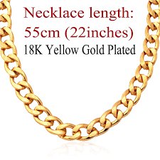 chunky necklace chain images U7 chunky necklace for men 11mm thick gold plated cuban link chain jpg