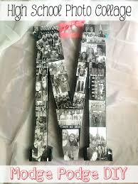 school graduation gifts high school graduation gift diy photo collage initial