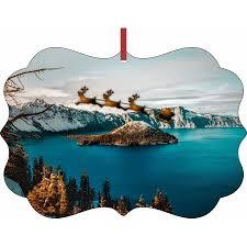 santa and sleigh crater lake oregon rosie inc