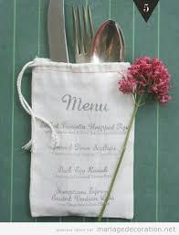 id e menu mariage quelques créations diy et exemples de présentation pour afficher