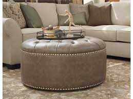 Fabric Storage Ottoman With Tray Ottomans Grey Ottoman Ikea Large Round Storage Ottoman Coffee