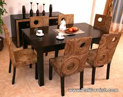 8 Chair Dining Table Set Waterhyacinth Rattan And Wicker Dining Table And Chairs Furniture