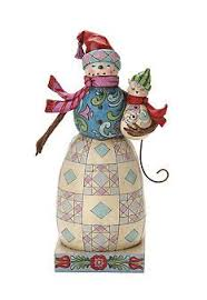jim shore cat on snowman whimsical figurine arty jim