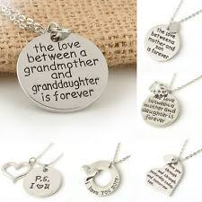 grandmother and granddaughter necklaces granddaughter necklace ebay