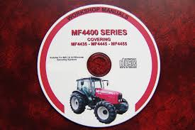 massey ferguson mf4435 4445 4455 series tractor workshop service