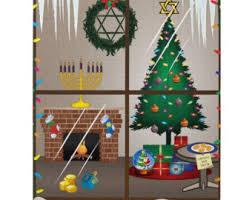 chrismukkah decorations chrismukkah etsy