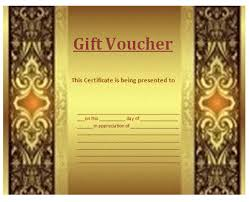 gift voucher template professional word templates