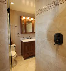expanded master bathroom with mosaic tiled baseboards taylor
