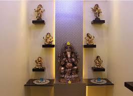 Home Temple Decoration Ideas 66 Best Pooja Images On Pinterest Puja Room Prayer Room And Hindus